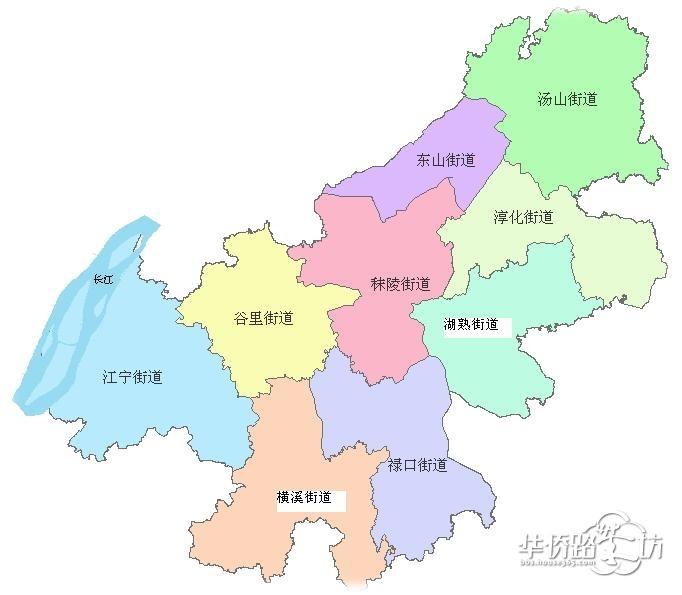 南京最新行政地图