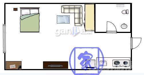 单身公寓厨房设计图展示
