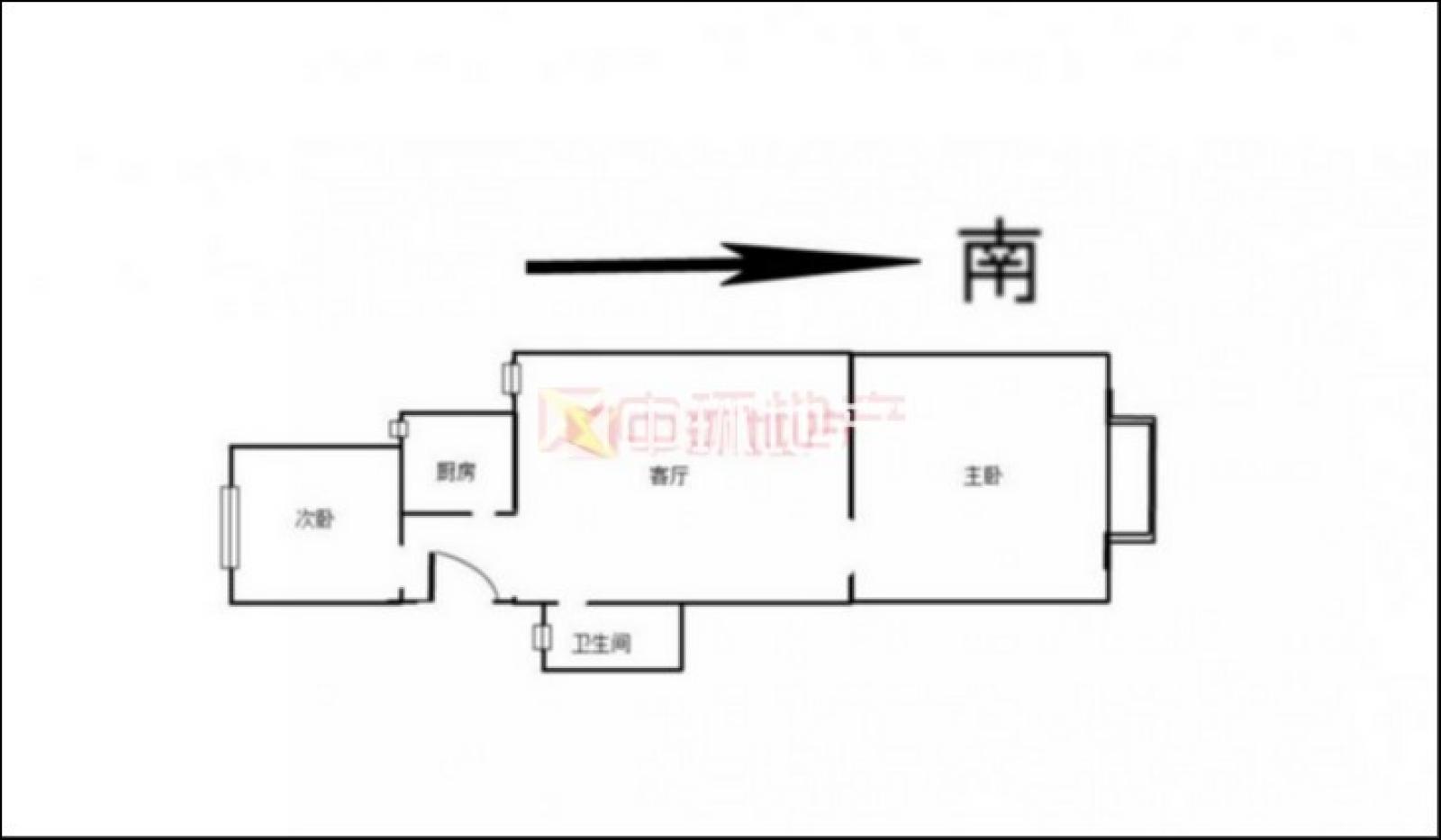 户型 户型图 平面图 1600_933