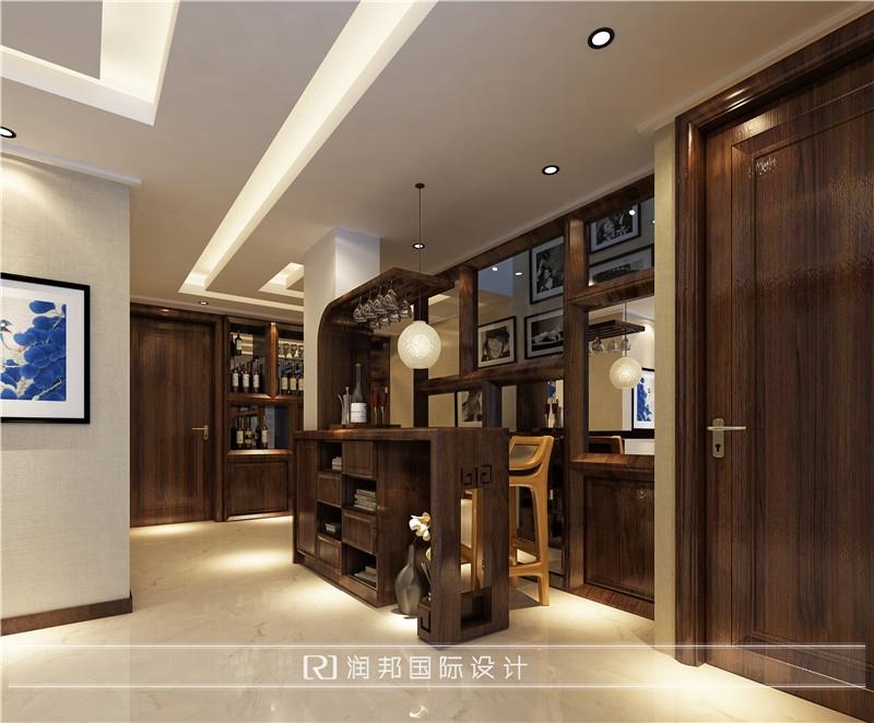 南京别墅装饰公司新中式风格装修效果图地下室效果图
