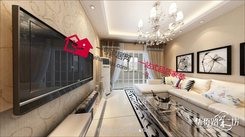装修案例及效果图   设计说明:       进户门玄关位置置于厨房门处,将
