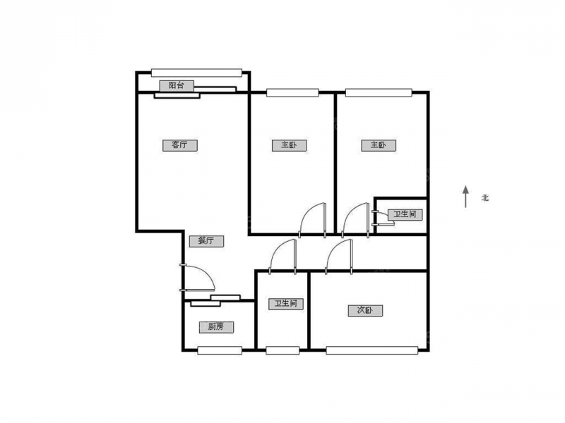 栖霞区马群紫金佳苑1室1厅户型图