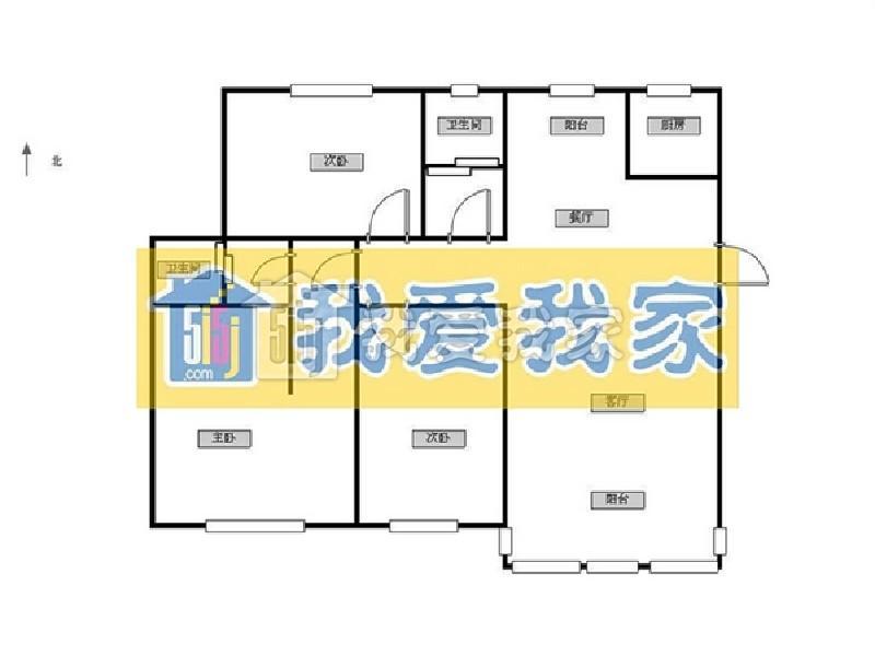 玄武区锁金村新世界花园3室2厅户型图