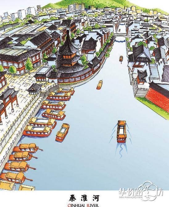 80后城市规划师手绘南京城众多地标建筑!