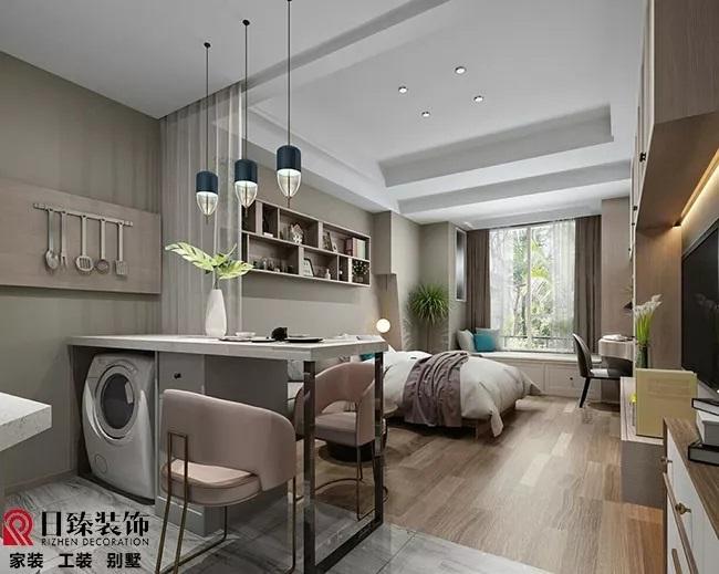 【日臻原创设计】40平方现代风格酒店公寓设计