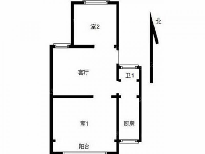 栖霞区马群百水芊城上水坊2室1厅户型图