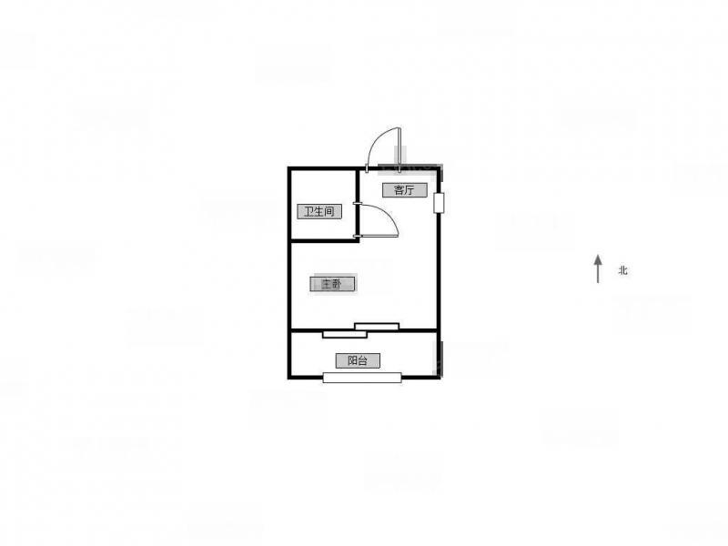 玄武区孝陵卫紫金柳苑1室1厅户型图