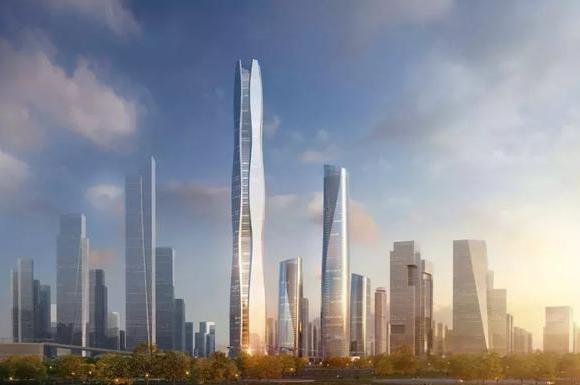 全球超高层观光中心!河西第一高楼