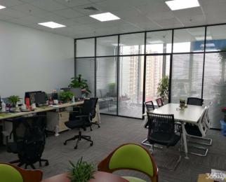 南京南站地铁口绿地之窗80平豪装带办公家具