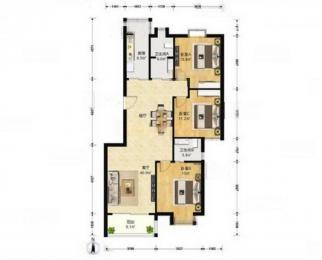 苏建豪庭靠地铁 精装全明新城北学区房带户口 三房带电梯满五