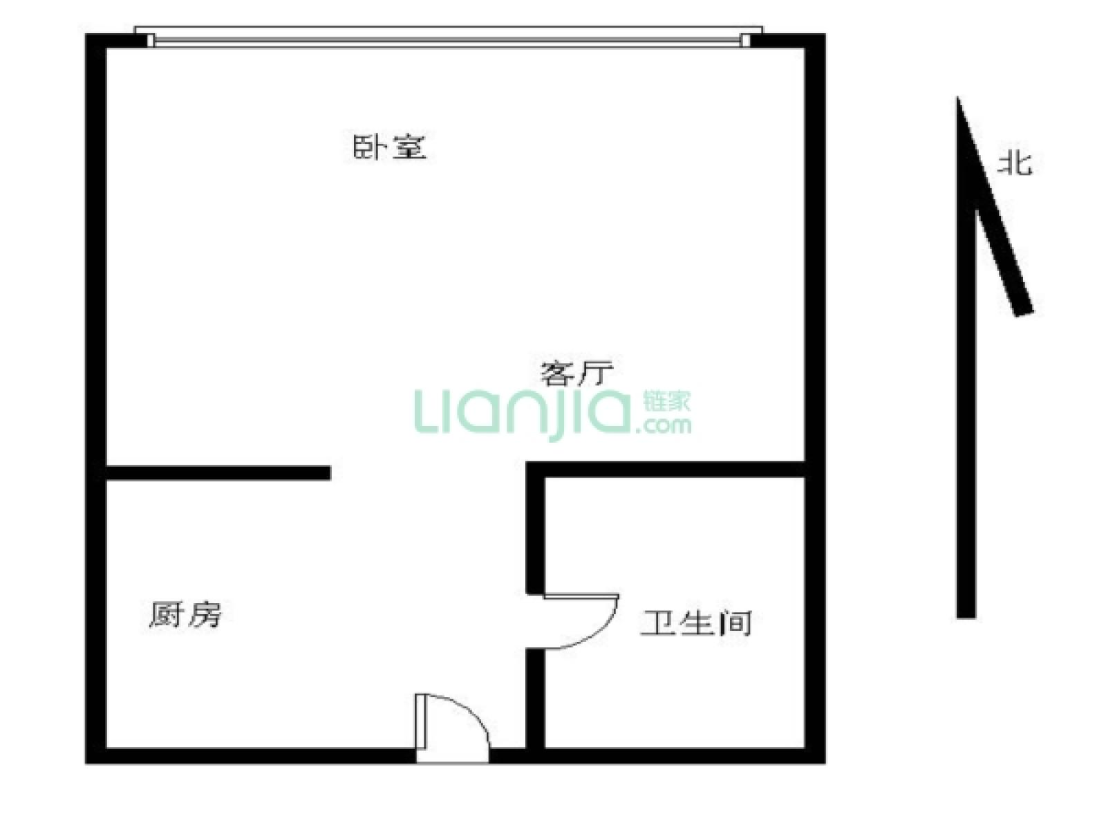 建邺区南湖云河湾七号公馆1室1厅户型图