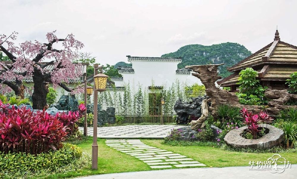 庭院园林设计 施工维护 免费量房方案_(j)九龙湖别墅