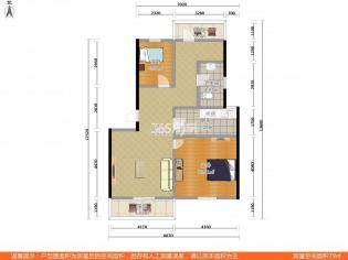 仙林奥克斯钟山府2室1厅1卫88.87平双学区房
