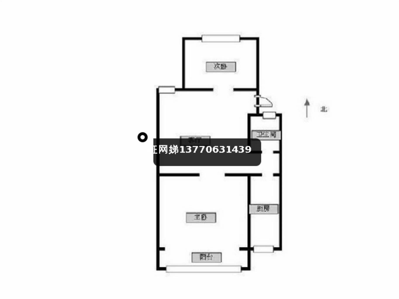 秦淮区瑞金路瑞金北村2室1厅户型图
