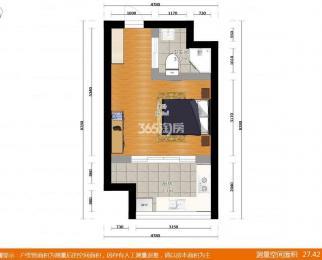 升龙汇金中心1室0厅1卫48平方产权房精装