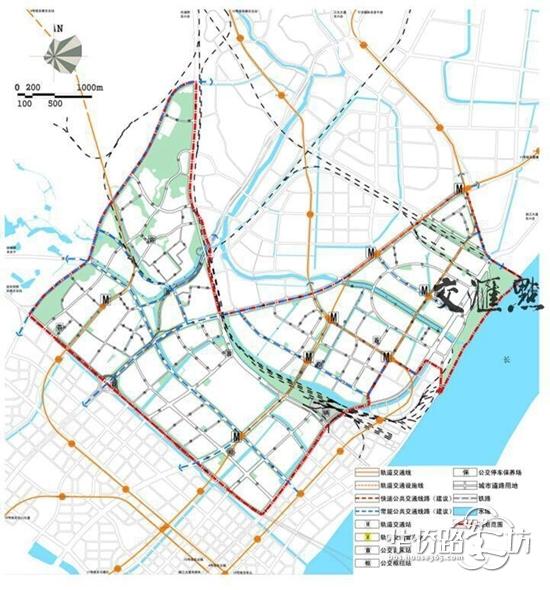 南京江北新區三大片區規劃出爐 未來有更多學校地鐵圖片