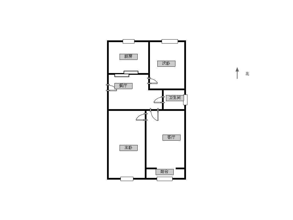 鼓楼区三牌楼和会街小区2室2厅户型图