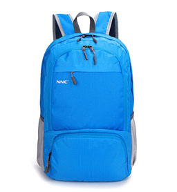NNC折叠双肩包-蓝色