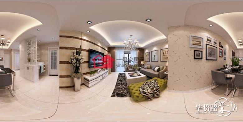 朗诗未来街区82平三室两厅简约风格装修效果图