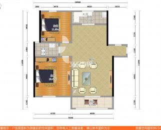 中电颐和家园四期2室2厅1卫95.36送地下室