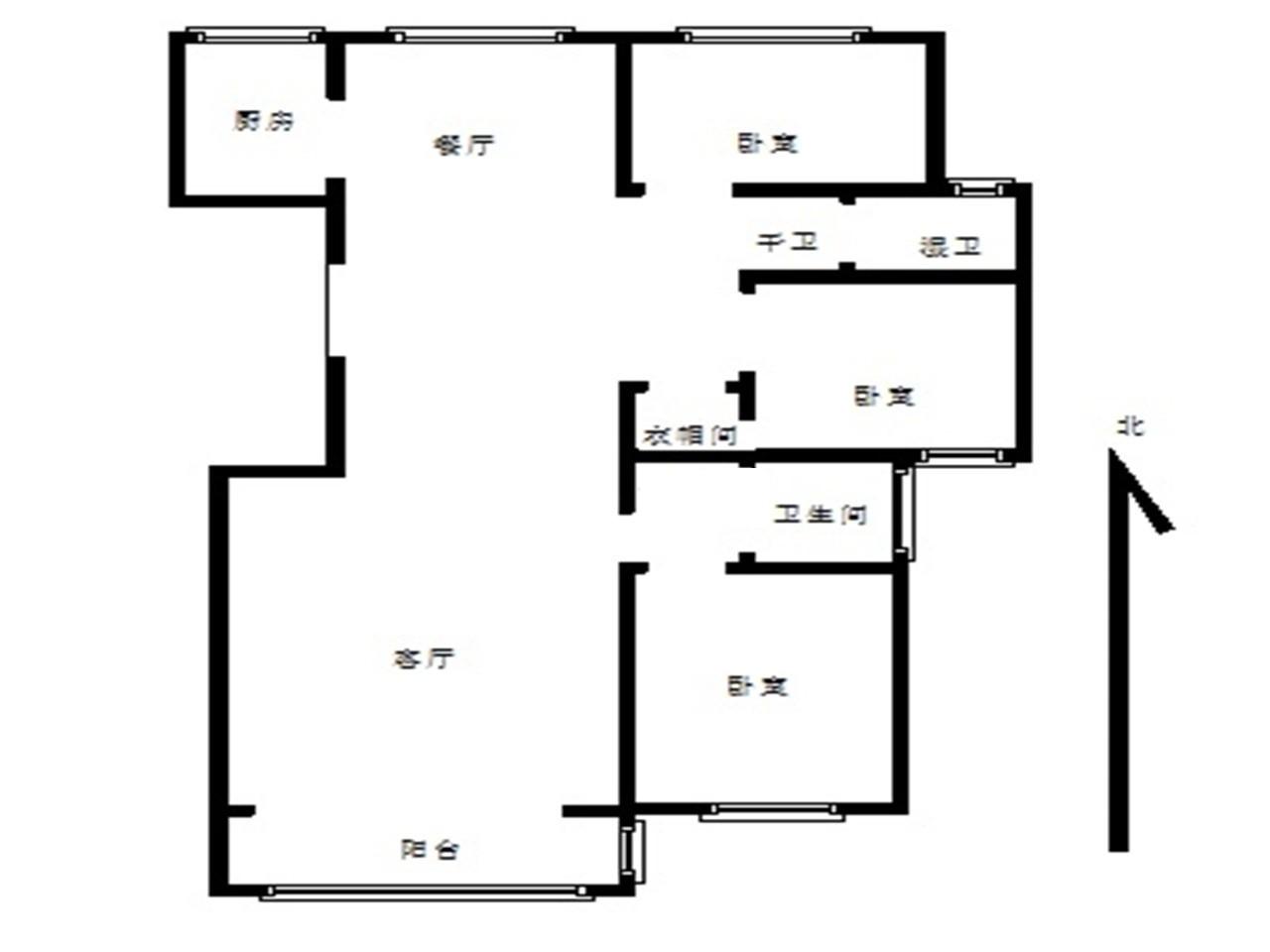鼓楼区龙江瑞园3室2厅户型图