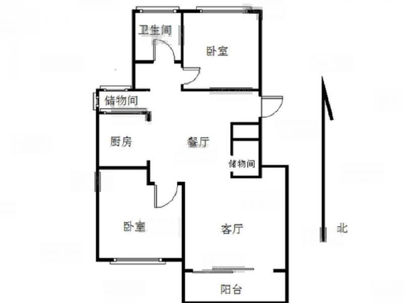 栖霞区仙林朗诗保利麓院2室2厅户型图
