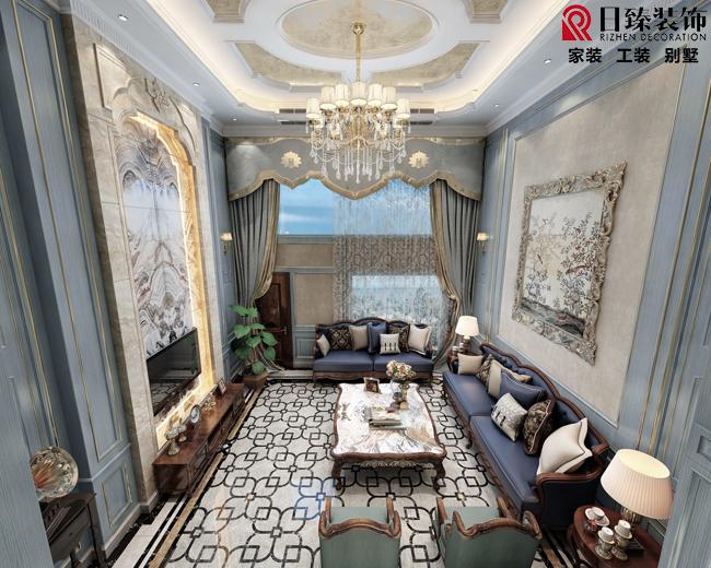 【日臻装饰】涟城450平方5层别墅,欧式风格,半包39.2万