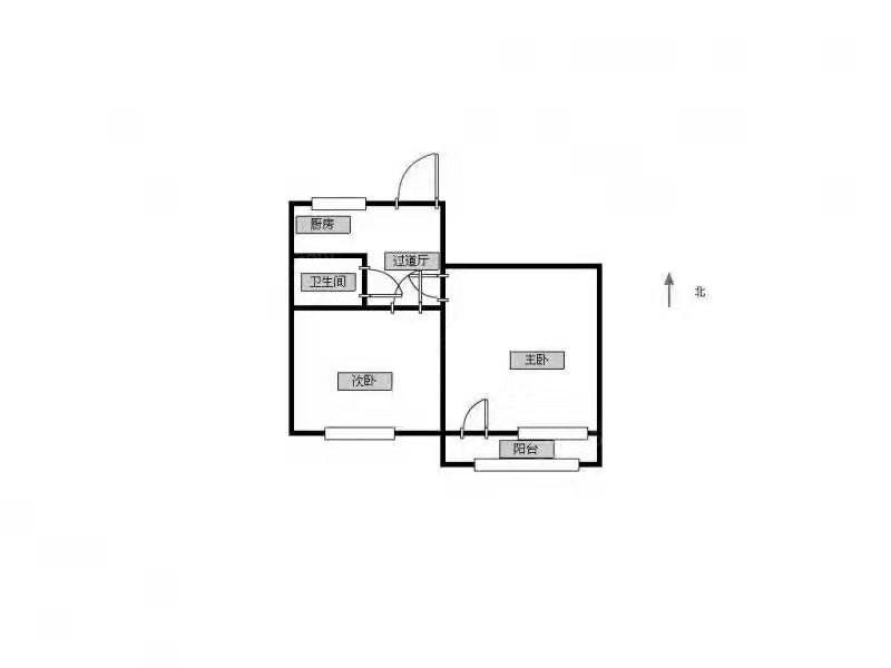 鼓楼区宁海路上海路小区2室1厅户型图