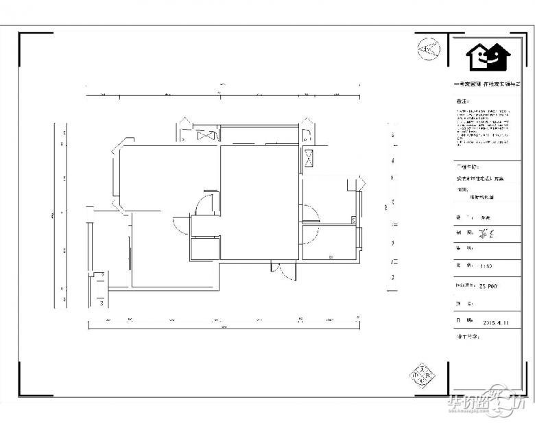 枫情水岸户型图-86平户型解析-现代简约风格