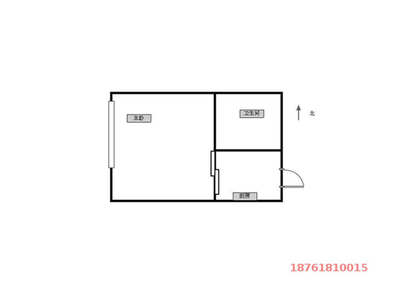 江宁区将军大道托乐嘉单身公寓1室1厅户型图