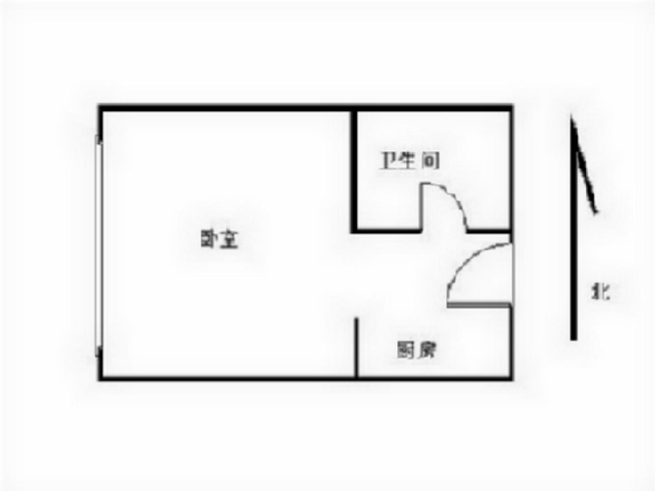 玄武区樱驼花园苏宁紫金嘉悦1室1厅户型图