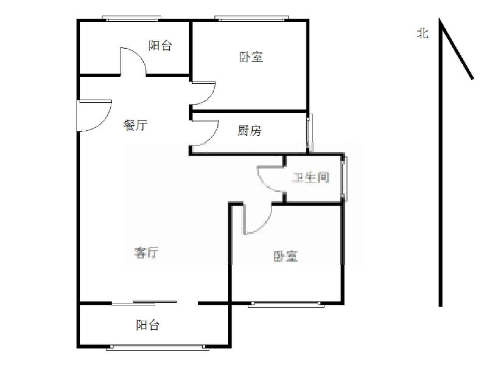 栖霞区仙林湖新城香悦澜山2室1厅户型图