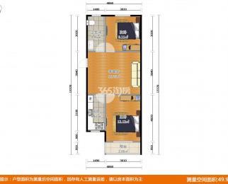 定淮门大街32号2室1厅1卫66平方产权房精装