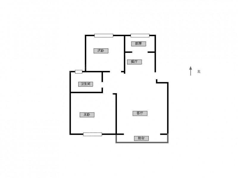 栖霞区迈皋桥枫桥雅筑2室2厅户型图