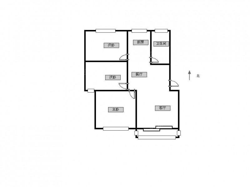 栖霞区万寿阳光雅居3室1厅户型图