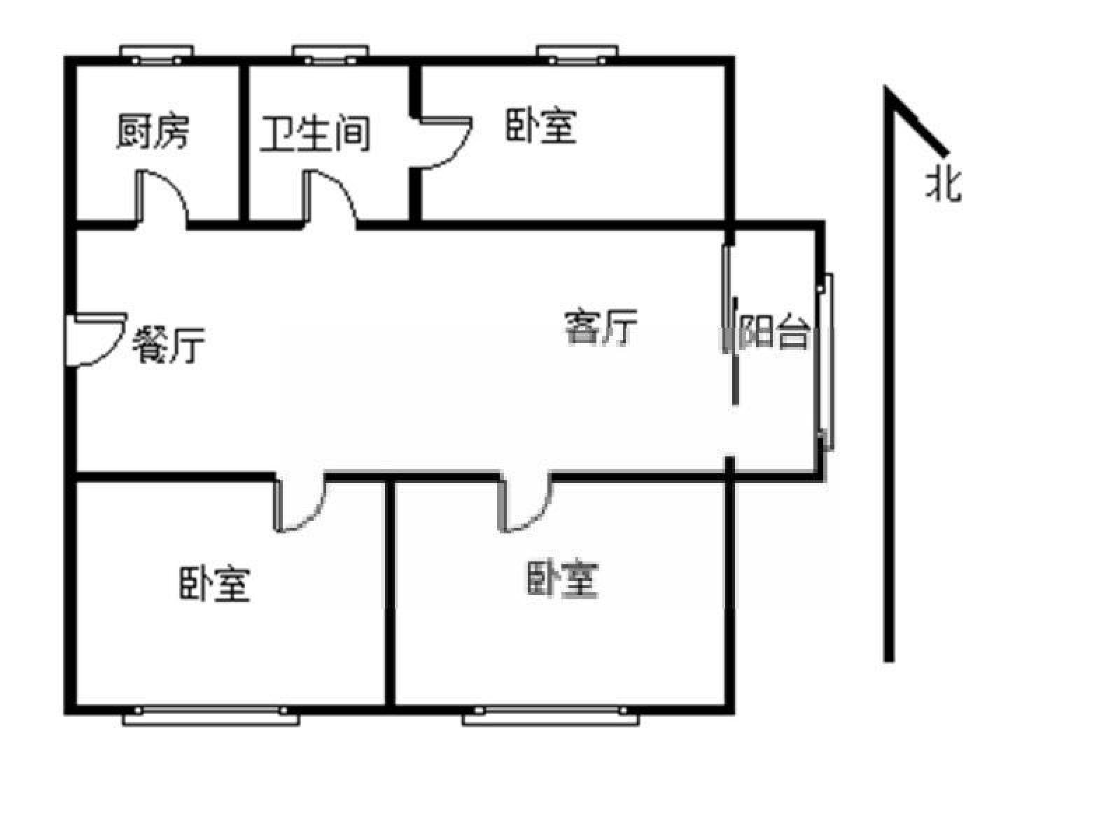 栖霞区仙林湖万达茂3室2厅户型图