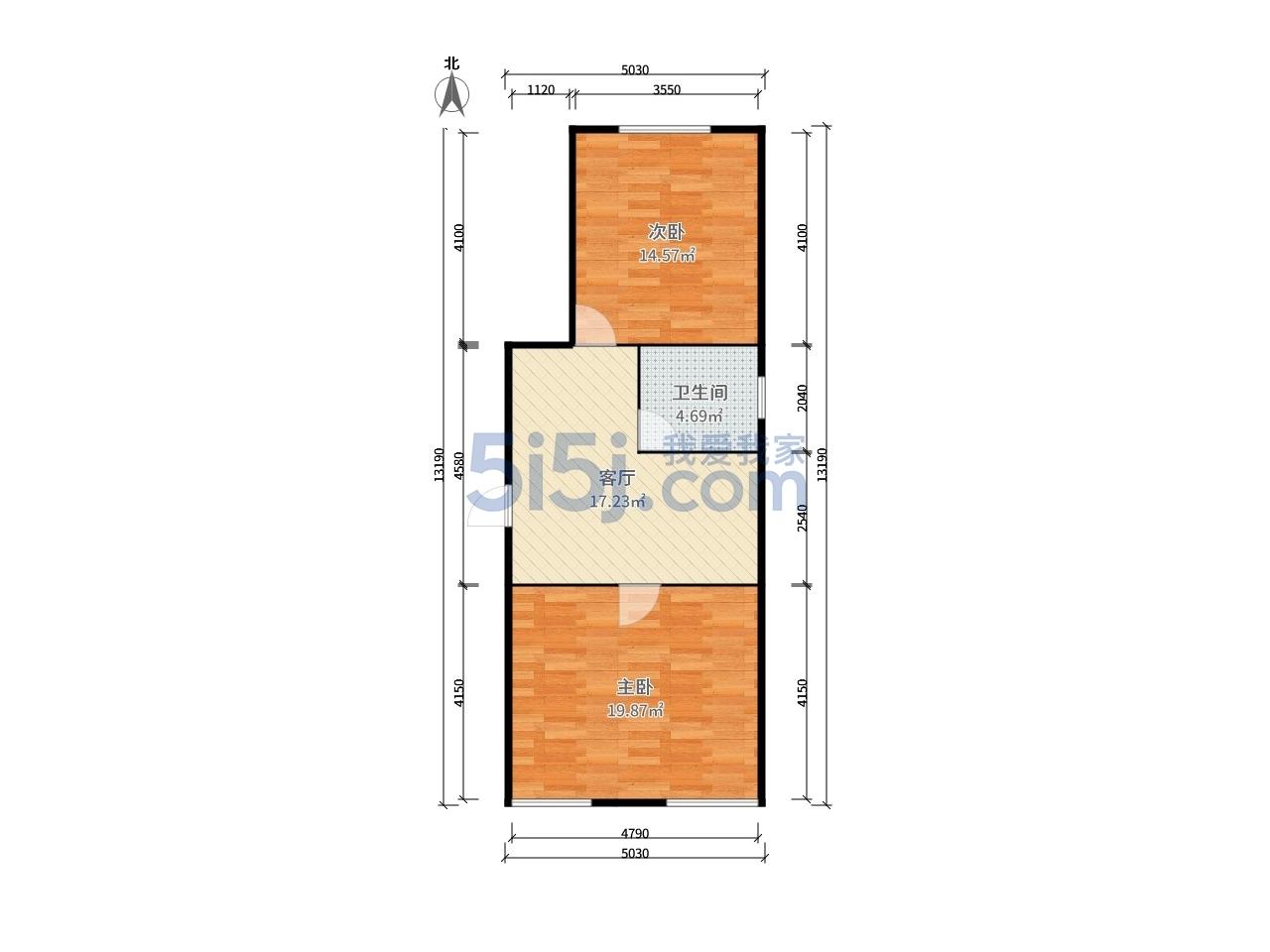 玄武区孝陵卫罗汉巷小区2室1厅户型图