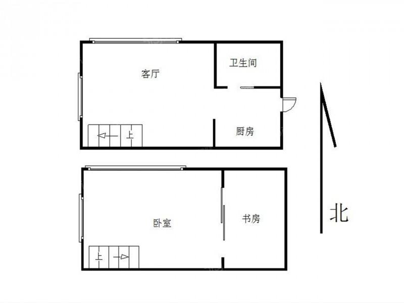 建邺区南湖润花园1室1厅户型图