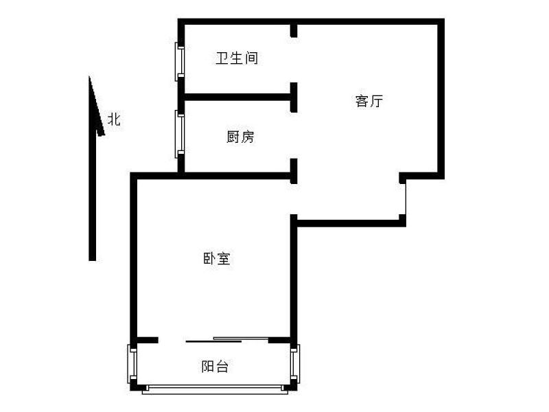秦淮区新街口朗诗熙园1室1厅户型图