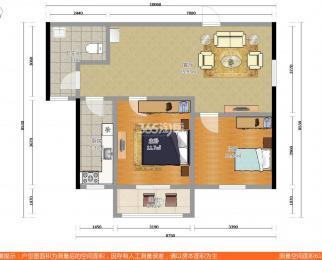 枫桥雅筑2室1厅1卫66平米2004年产权房精装