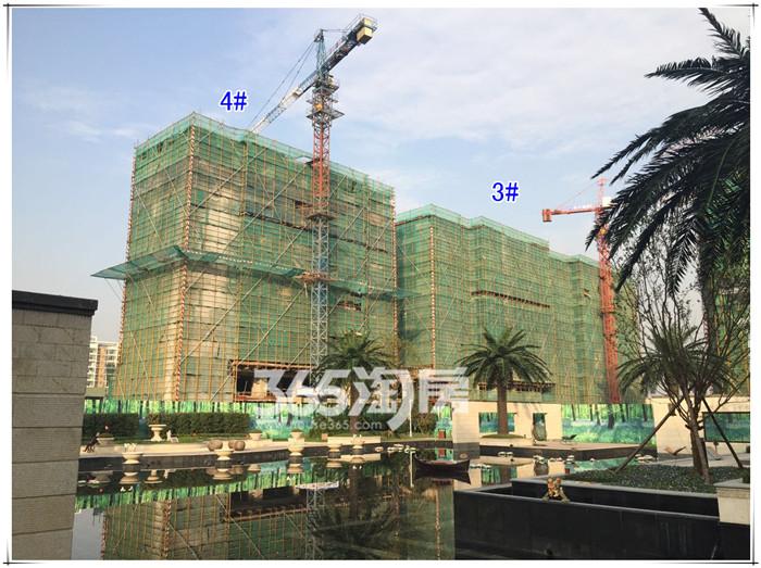 【工程进展】晚秋初冬探恒大龙�B最新施工进展,部分洋房已经封顶,公园绿化不断完善