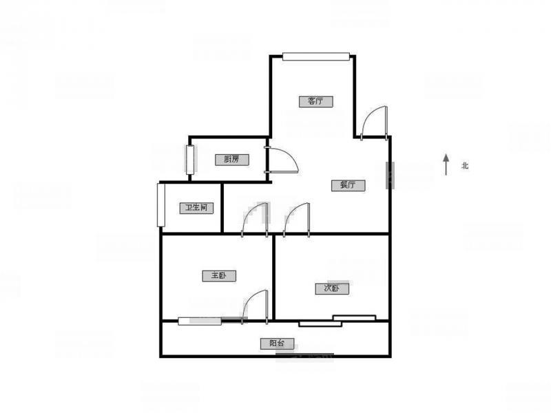 江宁区百家湖21世纪现代城西区2室2厅户型图