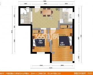 北门桥6号2室1厅1卫69平米整租精装