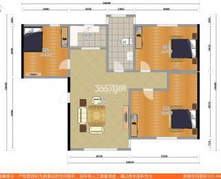 壹城花园3室2厅1卫102平米简装使用权房2006年建