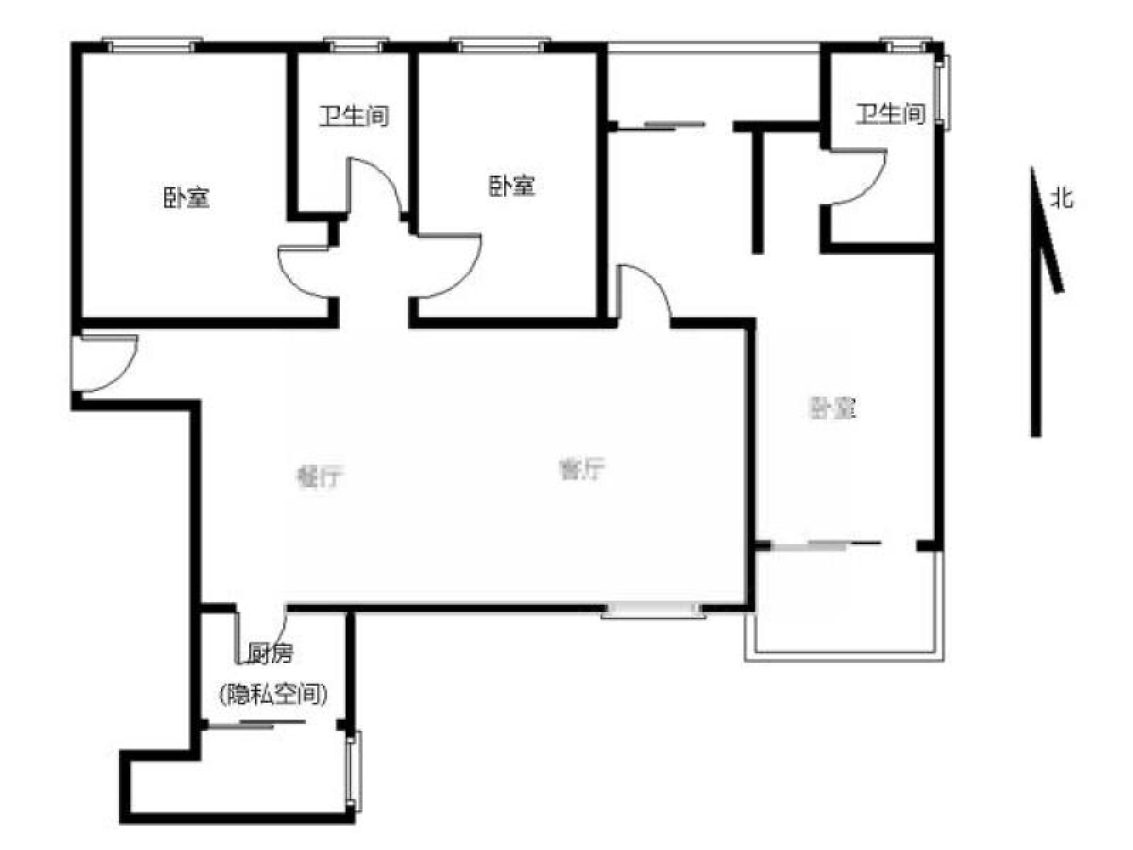 鼓楼区凤凰西街中海凤凰熙岸3室2厅户型图