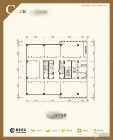 建邺区奥体君泰国际0室0厅户型图