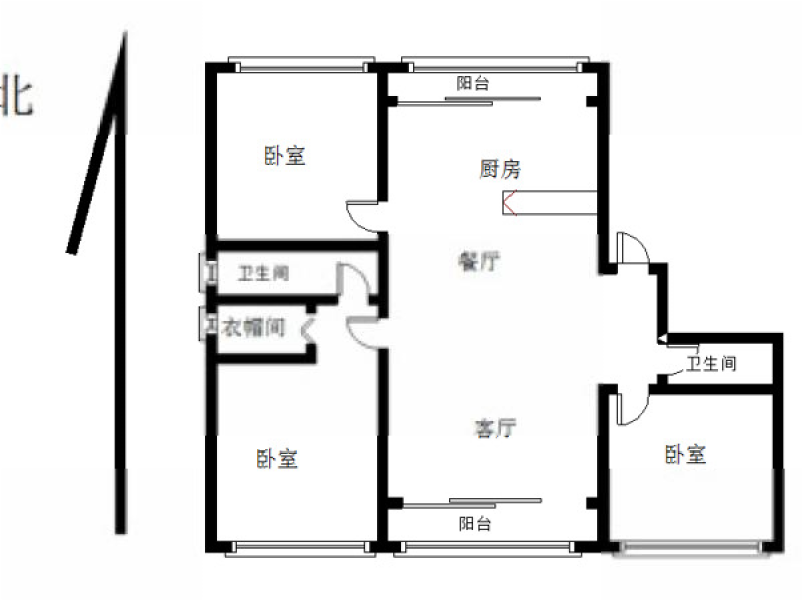 江宁区将军大道爱涛翠湖花园4室2厅户型图