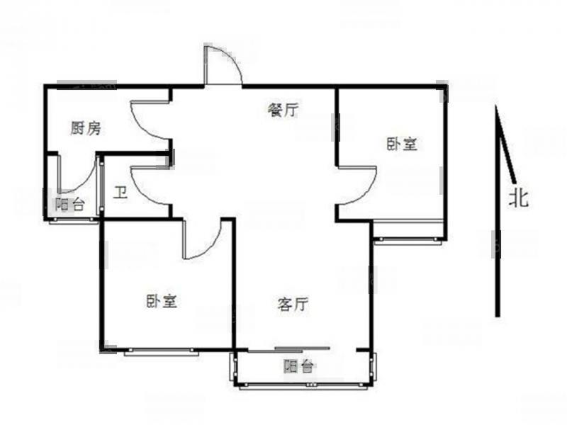 栖霞区仙林赛世香樟园2室2厅户型图
