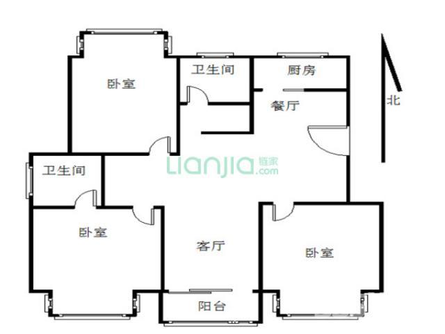 【天印大道地铁站莱茵东郡精装三房 满五年4楼_南京区