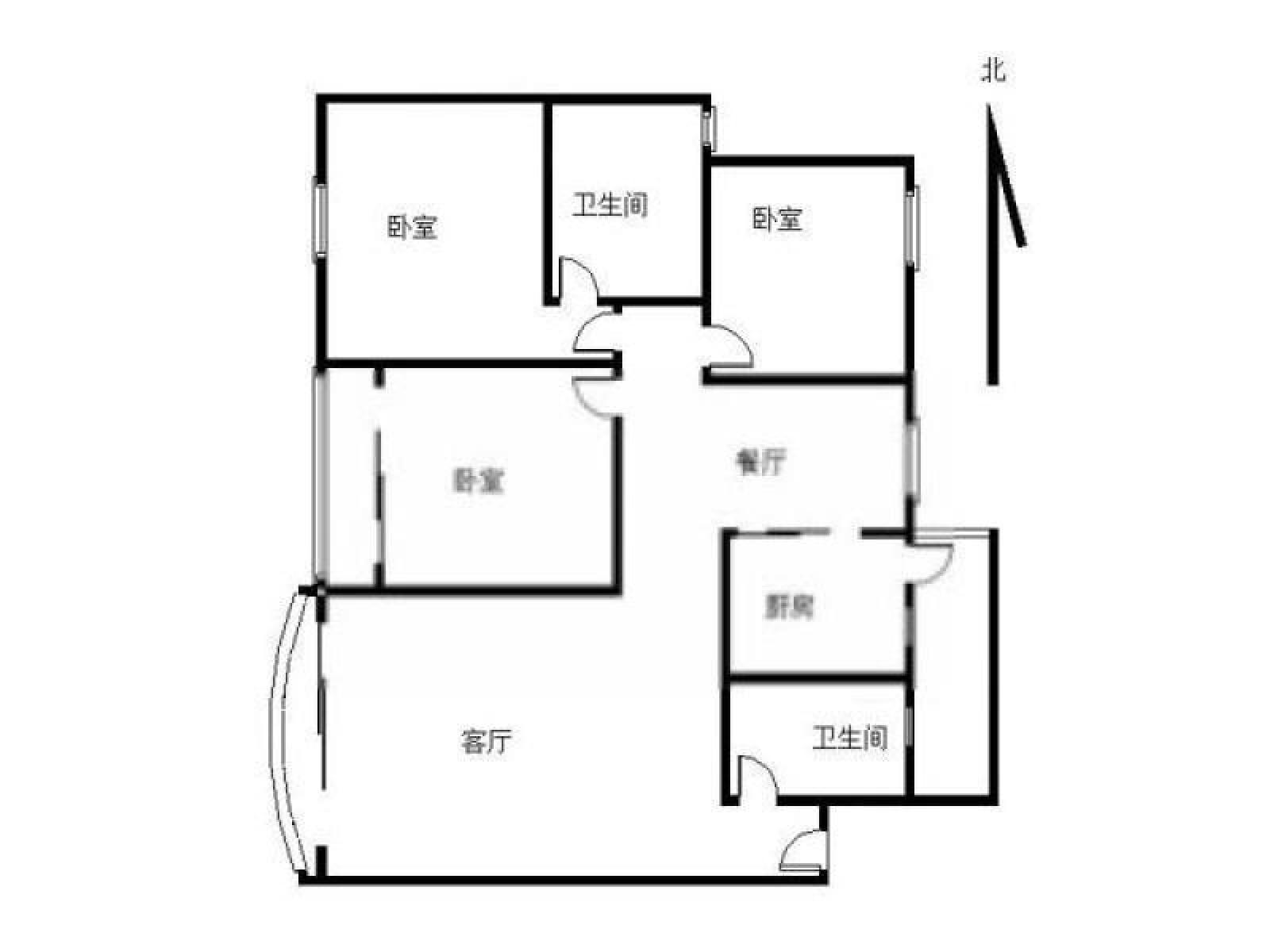 胜泰路地铁口 宁湖园岚岛别墅3室1厅1卫120平米整租精装